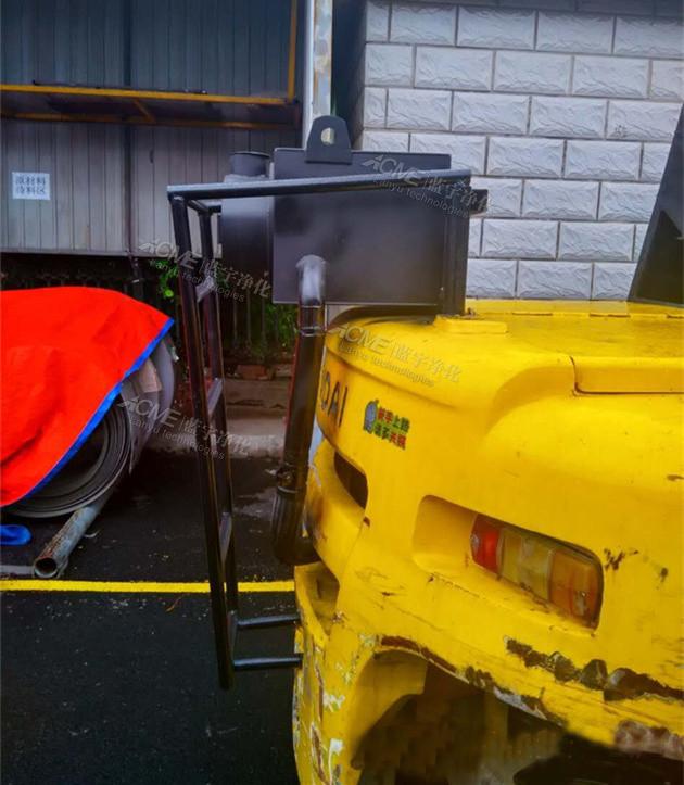 万纯大吨位柴油叉车尾气净化器